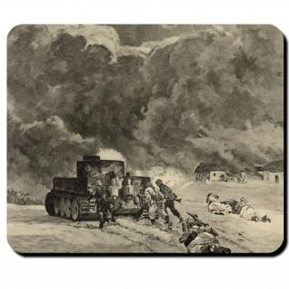 Tiger Panzer Infanterie WK 2 Soldaten Ostfront Winter - Mauspad Laptop #10833