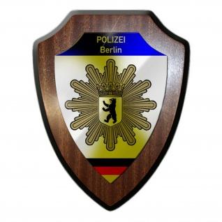 Wappenschild Polizei Berlin Wappen Abzeichen Hauptstadt Dienstzeit Büro #23079