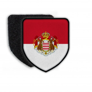 Patch Flag of the Monaco Flagge Land Staat Nation Europa Aufnäher Wappen#21374