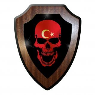 Wappenschild / Wandschild - Türkei Skull Totenkopf Schädel Tattoo Armee #9743