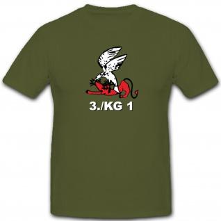 3./KG1 3. Staffel Kampfgeschwader 1 Luftwaffe WK 2 Wh Wappen - T Shirt #4620