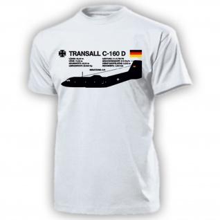 Transall C-160 D C 160 BW Luftwaffe Flugzeug Transportflugzeug - T Shirt #18114