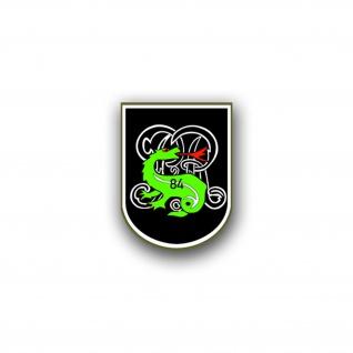Aufkleber/Sticker Panzerbataillon 84 PzBtl Wappen Abzeichen Emblem 7x7cm A804