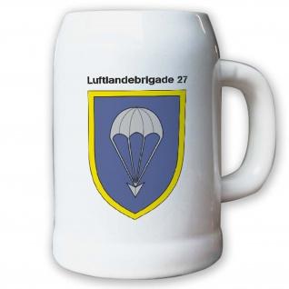 Krug / Bierkrug 0, 5l -8.Bierkrug Luftlandebrigade 27 Einheit Bundeswehr BW#12972
