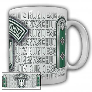 Tasse Hauptwachmeister BGS Bundesgrenzschutz Wappen Abzeichen Adler #23693