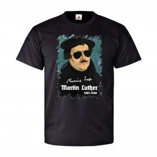 Martin Luther Sonnenbrille Art Kunst Spaß Humor Be Cool Style T Shirt #27158