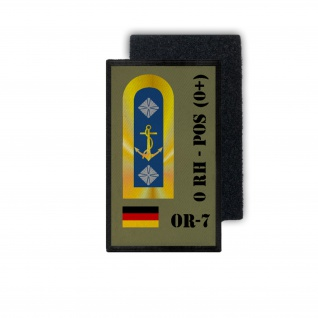 Patch BW Blutgruppen Patch OR-7 0 RH - POS 0+ Bundeswehr ISAF 9, 8x6cm #30935