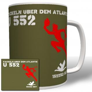 U Boot U552 Fackeln Atlantik Wk Marine Brutto Register Tonnen Tasse # 16596