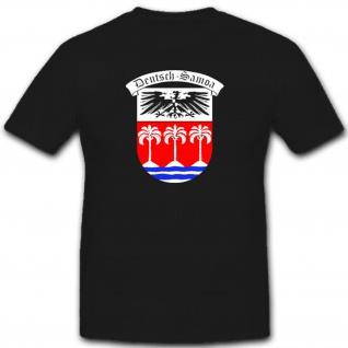 Deutsch-Samoa Deutschland Kolonie Wappen Südsee Preußen - T Shirt #7542