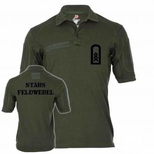 Tactical Poloshirt Alfa - Stabsfeldwebel Dienstgrad BW Abzeichen Offizier #19101