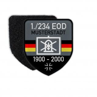 Patch BW EOD Dienstzeit Taktisches Zeichen Bundeswehr Klett Aufnäher #27742