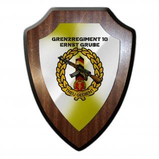 Wappenschild Grenzregiment 10 Ernst Grube Grenzstein DDR NVA Wache #36600