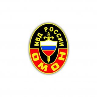 Aufkleber/Sticker OMOH Wappen Abzeichen Russische Spezialeinheit 7x5cm A1219