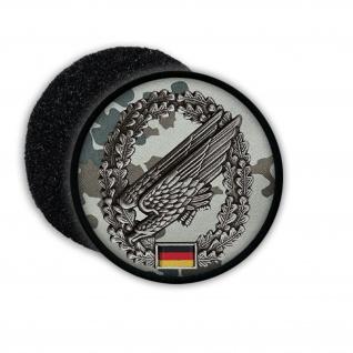 Patch Fallschirmjäger Barettabzeichen ISAF Bundeswehr Flecktarn Aufnäher #20799