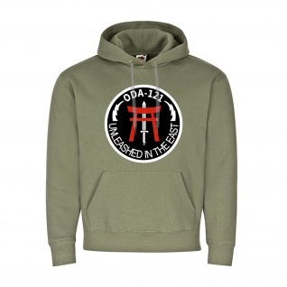 ODA-121 Unleashed in the east - Military Badge Hoodie Co B 1st Battalion #20904