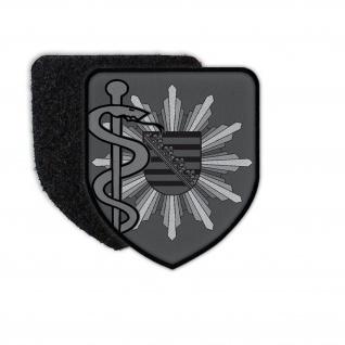 Patch Polizeiarzt Sachsen Tarn Version Polizei Abzeichen Arzt Doktor #34686