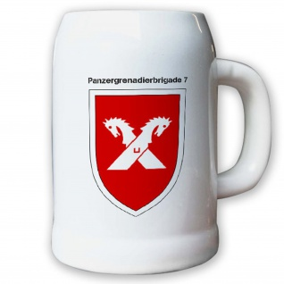 Krug / Bierkrug 0, 5l -22.Bierkrug Panzergrenadierbrigade 7 PzGrenBrig #12986