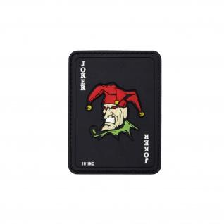 Joker Patch Clown 3D Rubber Airsoft Softair Fun Big Game Aufnäher 8x6, 5cm #20290