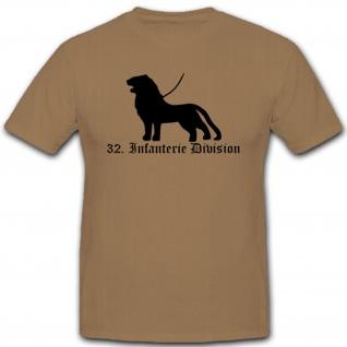 32 Infdiv 32 Infanterie Division Wh Wappen Abzeichen Emblem - T Shirt #3046