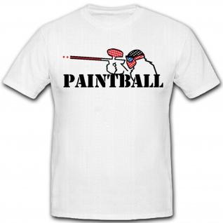 Big Game Paintball Logo Gotscha Spiel Szenario- T Shirt #4343