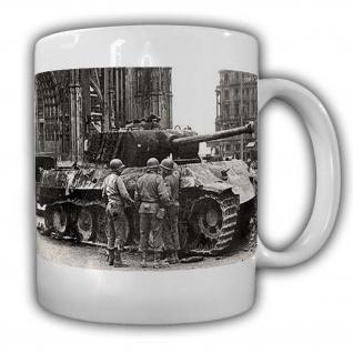 US Einheit vor dem Kölner Dom Militär Kaffebecher Colonge #22529