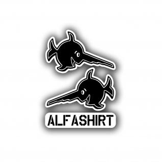Aufkleber/Sticker Alfashirt Sägefisch RC Modell Renn-Auto 2x 5x3cm A5008