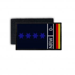 Patch Polizeihauptmeister PHM PHMin Klett Dienstpatch Polizei 9, 8x6cm #30851