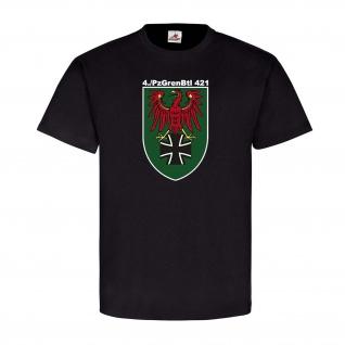PzGrenBtl 421 TYP2 Panzergrenadier Militär Bundeswehr Emblem T Shirt #25273