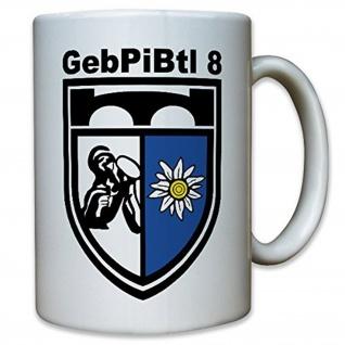 GebPiBtl 8 Gebirgs Pionier Bataillon Bundeswehr Militär Wappen - Tasse #12415