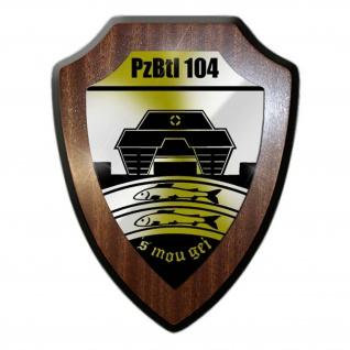 Wappenschild Panzerbataillon 104 Bundeswehr Pfreimd Leopard Panzer Wappen #24465
