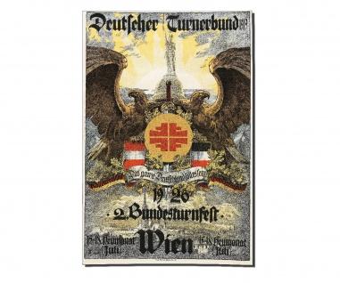 Poster Bundesturnfest Wien Deutschland Bund Turner Vintage ab 30x20cm #34573