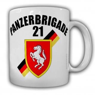 Tasse PzBrig 21 Panzerbrigarde Bundeswehr Abzeichen Wappen Augustdorf #24472