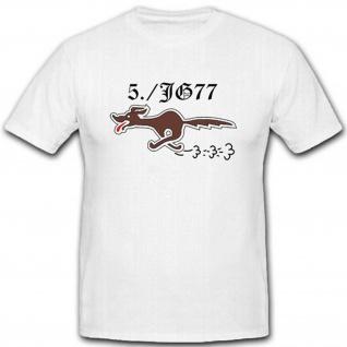 5-JG77 Jagdgeschwader WK Luftwaffe Wappen Emblem Abzeichen - T Shirt #2455
