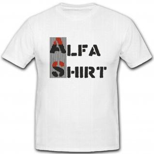 Alfashirt Team Fan Firma Logo Sägefisch - T Shirt #4392