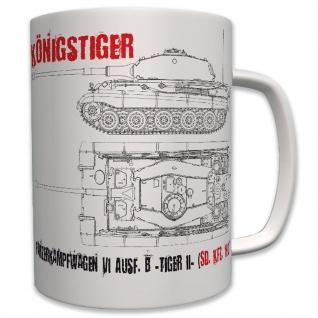 Königstiger Panzer Panzerkampfwagen VI Tiger II Tasse Becher Kaffee #6219