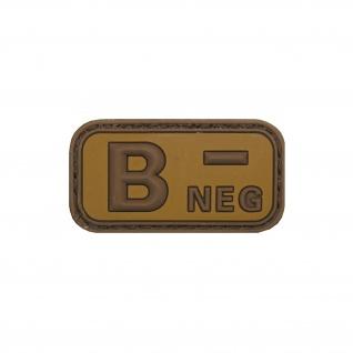 B Neg 3D Blutgruppe Plus Aufnäher Tropen Sand Patch Armee Ranger 5x2, 5cm #20482