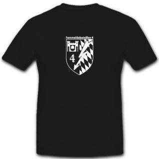Fernmeldebataillon 4 Bataillon Wappen Abzeichen Emblem Bundeswehr- T Shirt #5364 - Vorschau 1