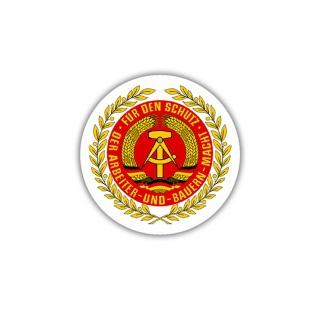 NVA Wappen Nationale Volksarmee DDR Deutschland Emblem Aufkleber 7x7cm #A4859