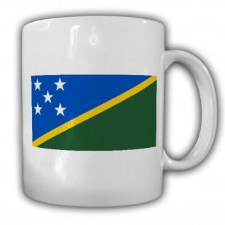 Salomonen Fahne Flagge Solomon Islands Kaffee Becher Tasse #13874