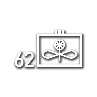 Aufkleber Taktisches Zeichen Lufttransportgeschwader 62 LTG 10x5, 5 cm A4958