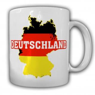 Deutschland BRD Bundesrepublik Fahne Landkarte Tasse Becher #19847