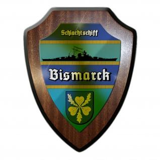 Wappenschild Schlachtschiff Bismarck Marine Legende Gedenken Wappen #12061