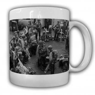 US Lager Tasse Soldaten Normandie D-Day Besprechung Militär Army Airborne#22520