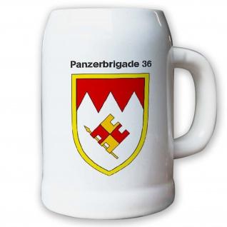 Krug / Bierkrug 0, 5l -19.Bierkrug Panzerbrigade 36 PzBrig Brigade Einheit #12983