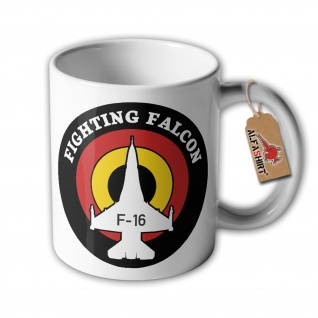 Tasse Fighting Falcon F-16 Arabica Kaffee Mehrzweckkampfflugzeug Reservist#33870