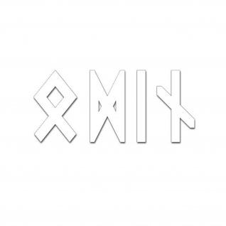 Odin Runen Schrift Sticker Auto-Aufkleber Wikinger Nordmann 10x4cm #A5696