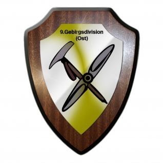Wappenschild 9 Ost Gebirgsdivision Großverband Heer Wappen Abzeichen #31593