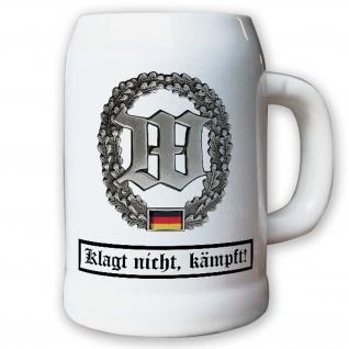 Krug / Bierkrug 0, 5l -Barettabezeichen Wachbataillon Schutztruppe BW #10928
