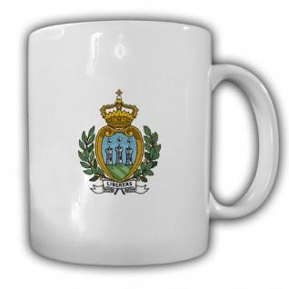 Republik San Marino Wappen Emblem Kaffee Becher Tasse #13881