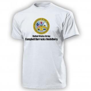 Campbell Barracks Heidelberg United States Wappen Abzeichen US - T Shirt #14184